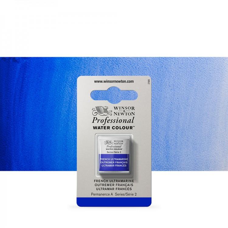 Winsor & Newton : Professional Watercolour Paint : Half Pan : French Ultramarine