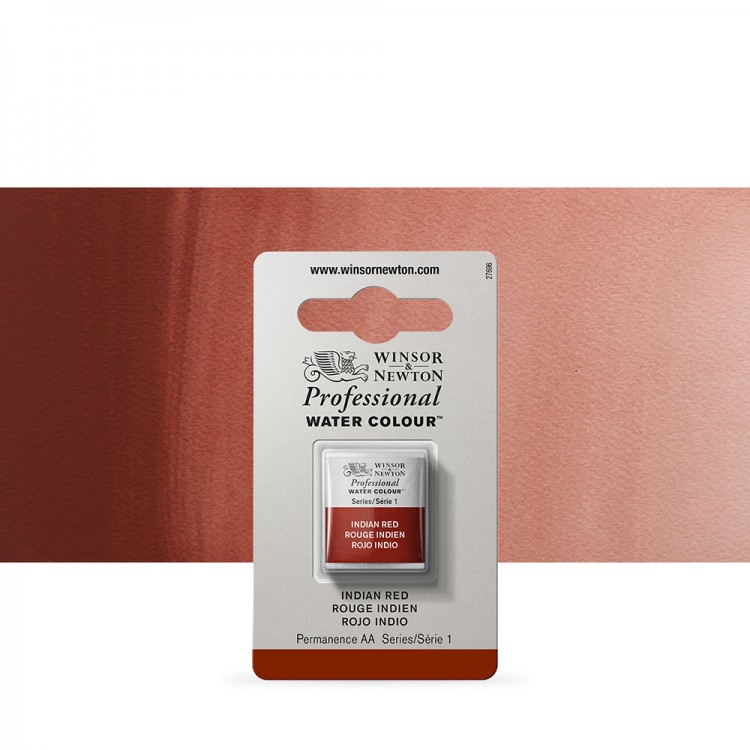 Winsor & Newton : Professional Watercolour Paint : Half Pan :Indian Red