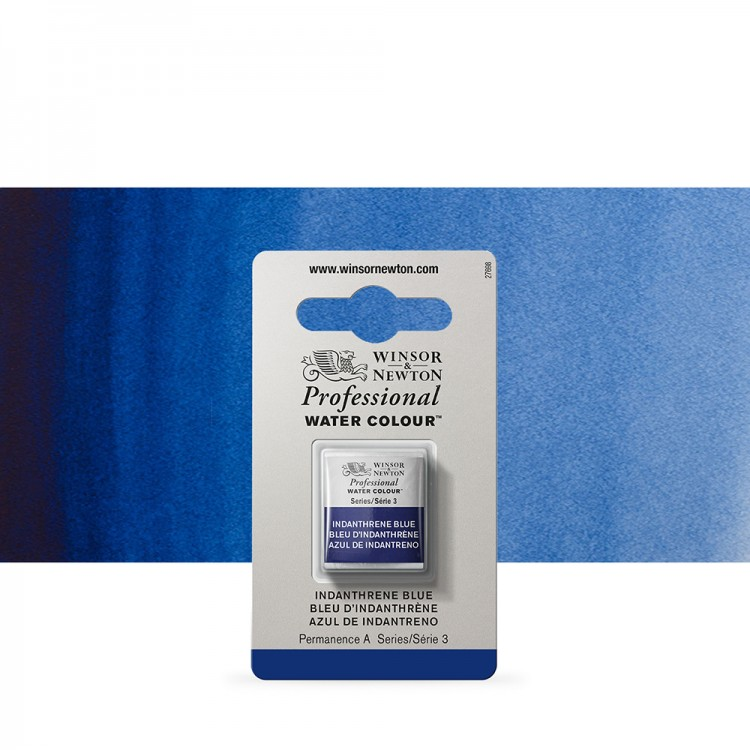 Winsor & Newton : Professional Watercolour Paint : Half Pan : Indanthrene Blue