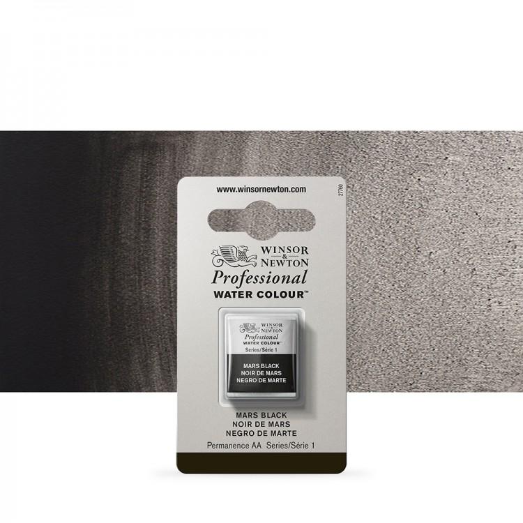 Winsor & Newton : Professional Watercolour Paint : Half Pan : Mars Black