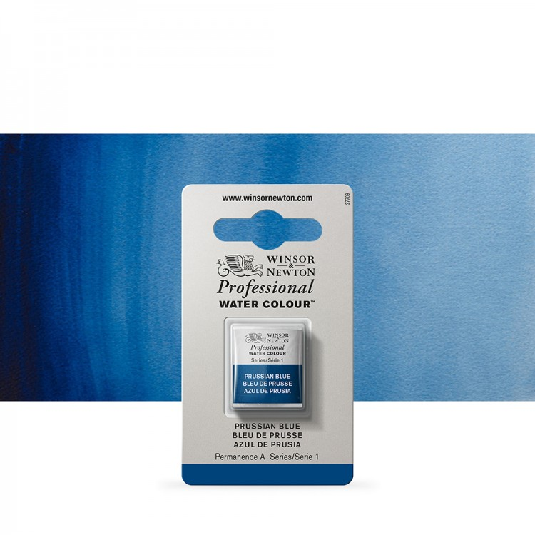 Winsor & Newton : Professional Watercolour Paint : Half Pan : Prussian Blue