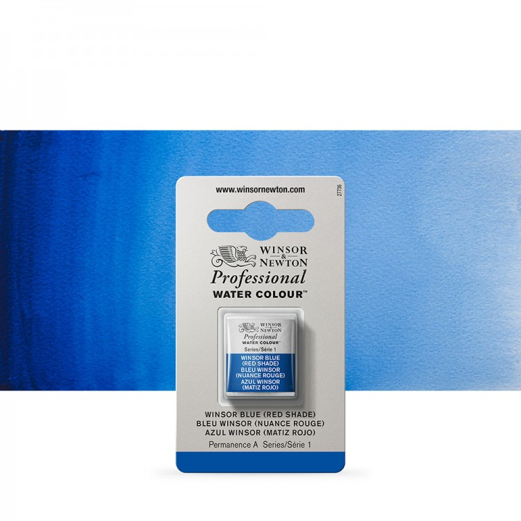 Winsor & Newton : Professional Watercolour Paint : Half Pan : Winsor Blue (Red Shade)
