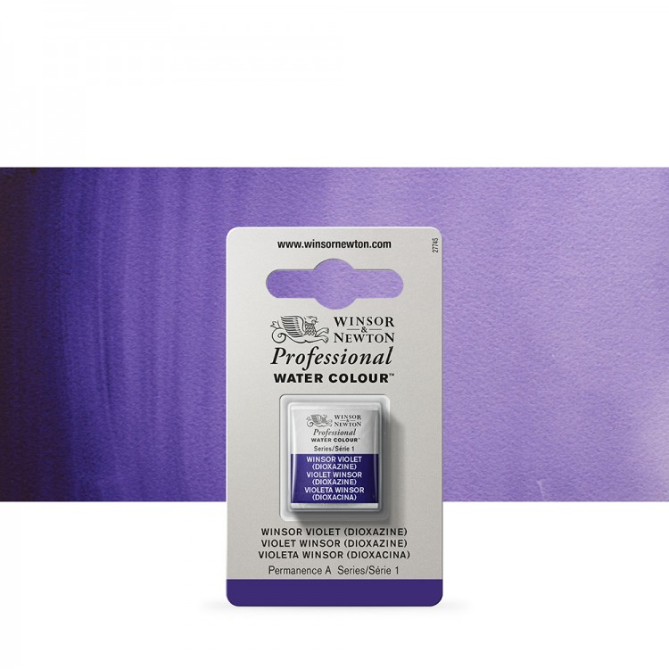 Winsor & Newton : Professional Watercolour Paint : Half Pan : Winsor Violet