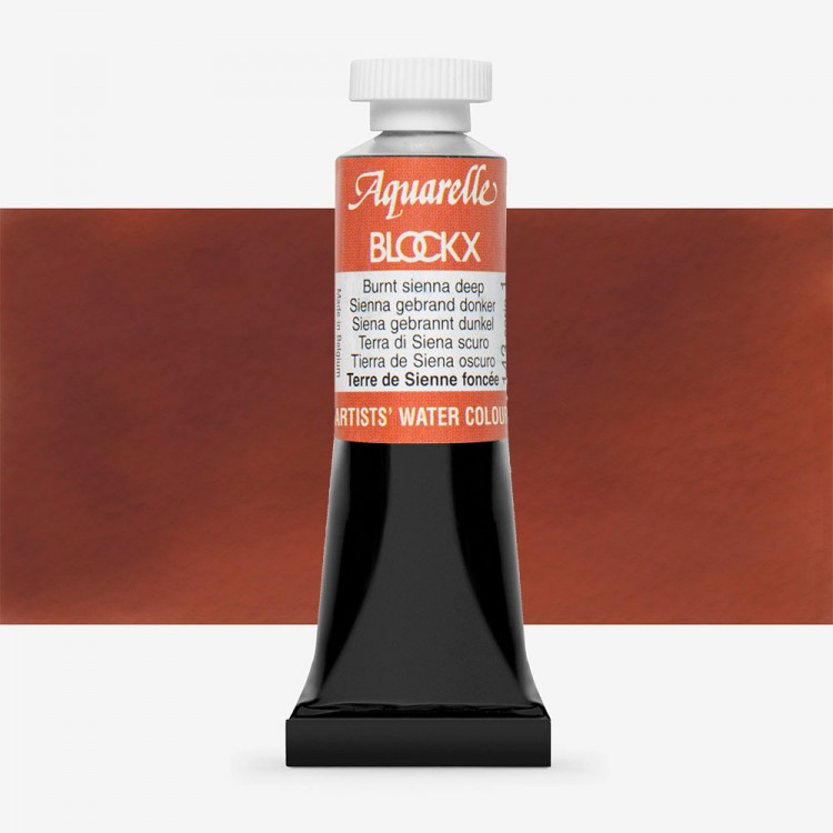 Blockx : Watercolour Paint : 15ml : Burnt Sienna Deep