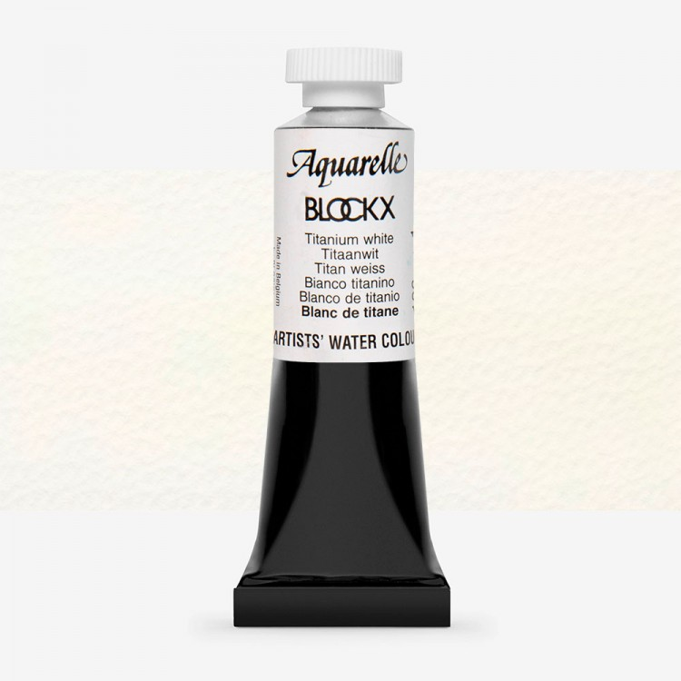 Blockx : Watercolour Paint : 15ml : Titanium White