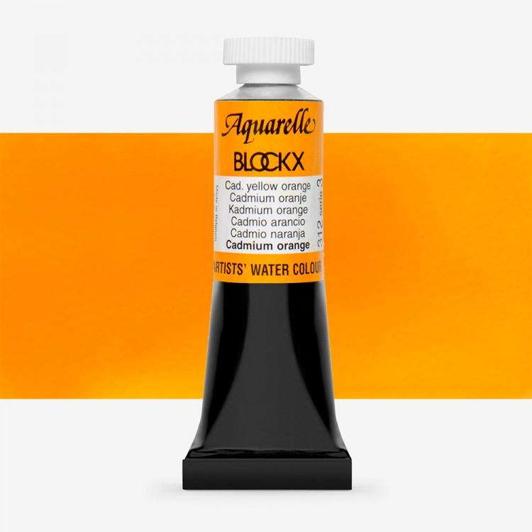 Blockx : Watercolour Paint : 15ml : Cadmium Yellow Orange