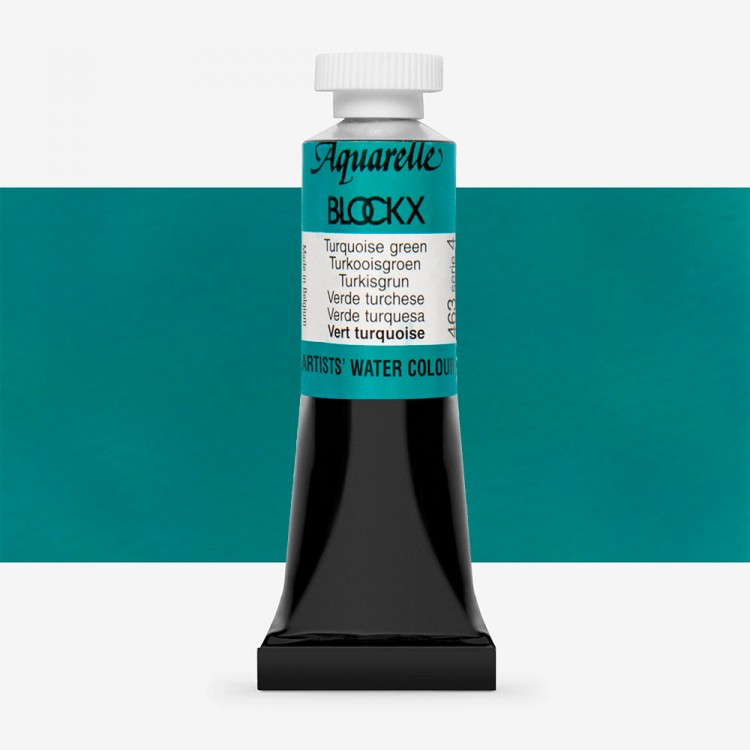 Blockx : Watercolour Paint : 15ml : Turquoise Green