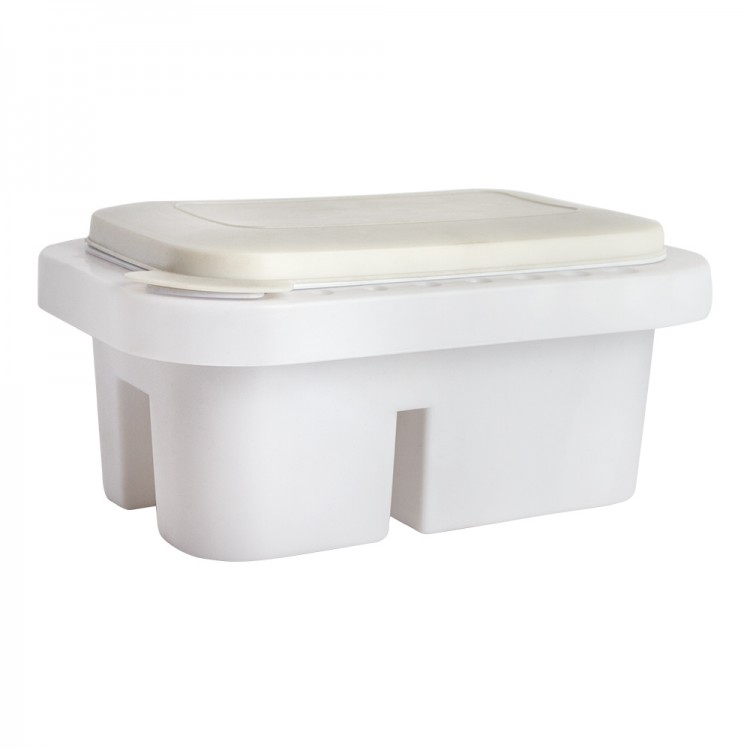 JAS : Plastic Brush Washer with Palette Cover : 25x15x10.5 cm