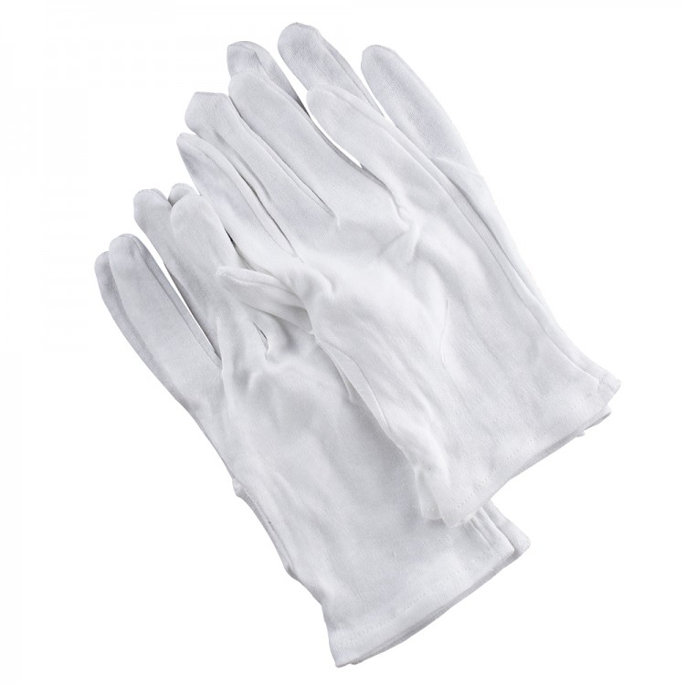 Soft Cotton Gloves : Large : 4pcs