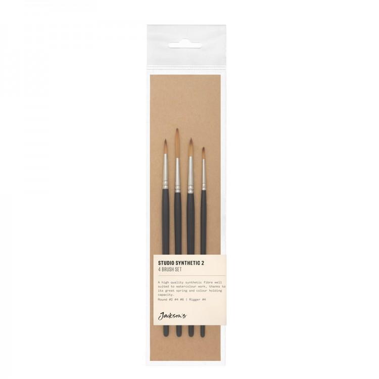 Jackson's : Studio Synthetic Brush Set : Set of 4