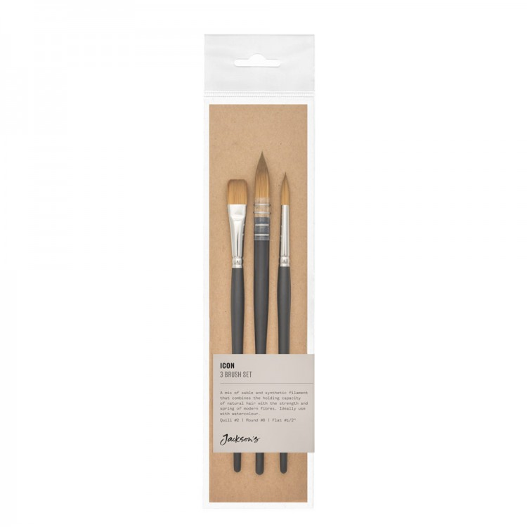 Jackson's Icon Brush Set B700-8,702-1/2,777-2