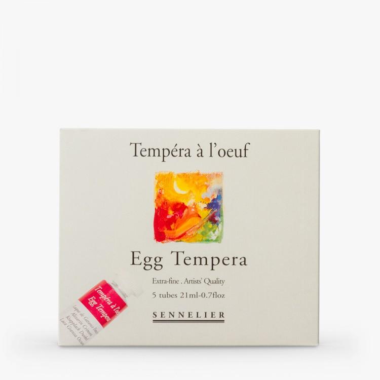 Sennelier Egg Tempera Paint : Starter Set : 5x21ml : Tubes