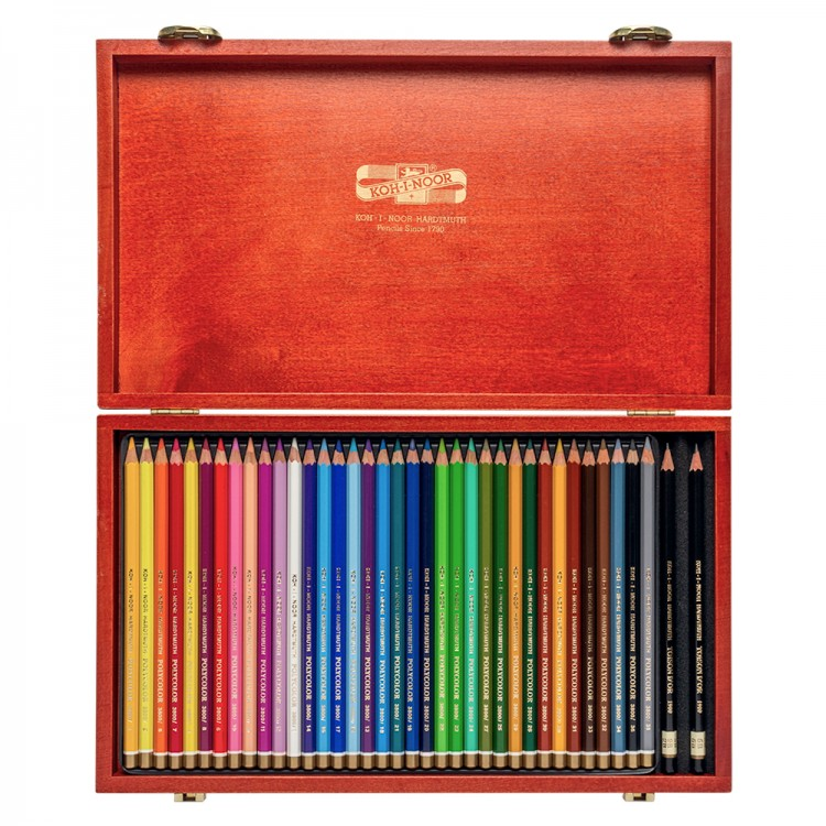Koh-I-Noor : Polycolor : Artist Coloured Pencils 3895 : Wooden Set Of 36