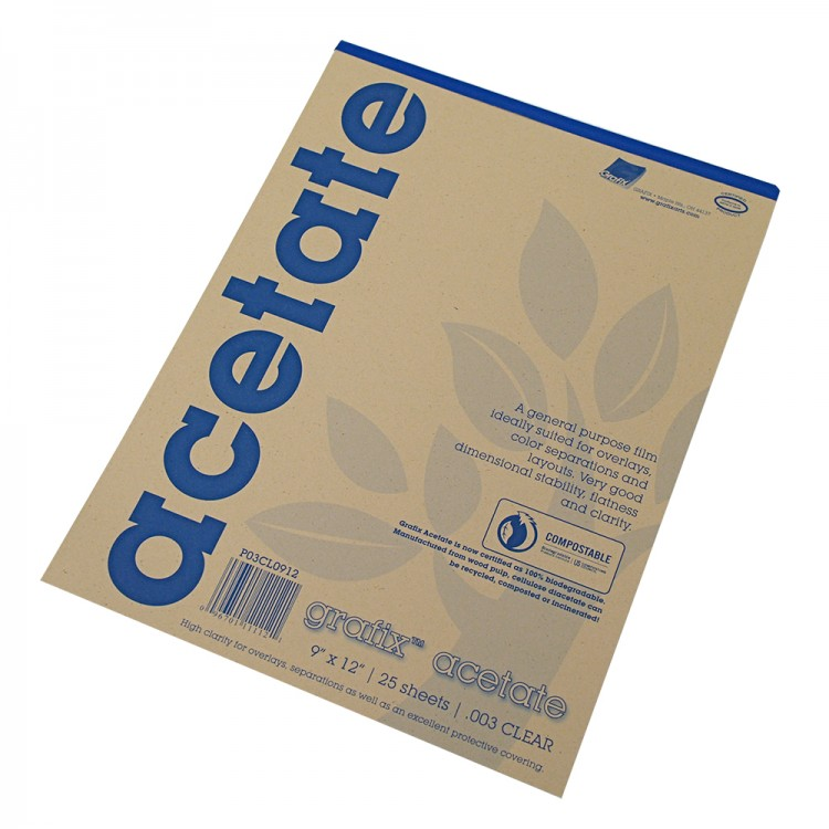 "Grafix : Clear Acetate : 0.003"" : Gummed Pads"