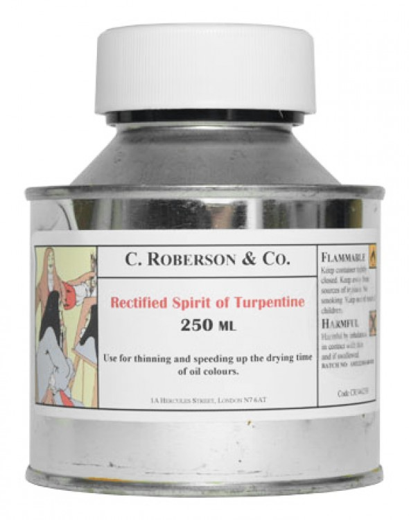 Roberson : Rectified Spirit of Turpentine : 250ml : By Road Parcel Only