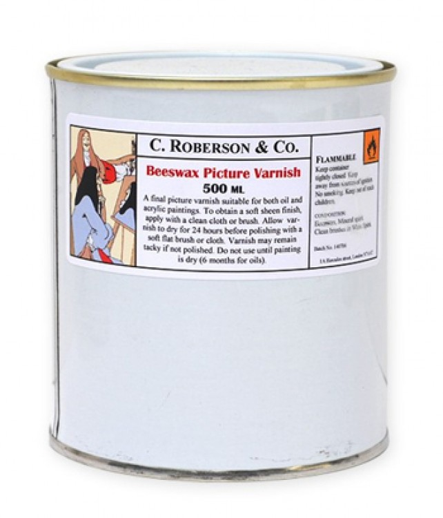 Roberson : Beeswax Picture Varnish : 500ml : By Road Parcel Only