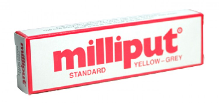 Milliput Epoxy Resin 113.4gm Standard Yellow Versatile Putty can be sculpted