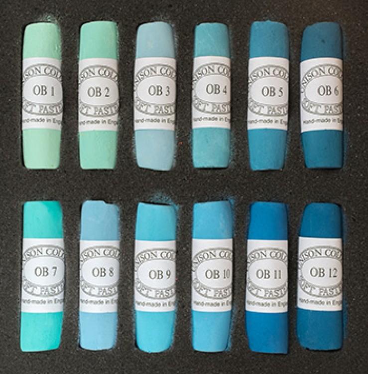 Unison : Soft Pastel : Set of 12 : Ocean Blues