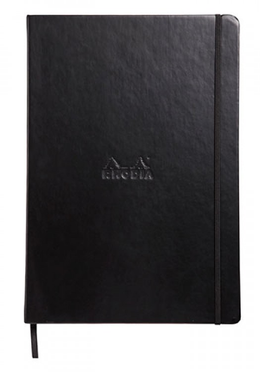 Rhodia : Webnotebook Unlined Ivory Pad : Black Cover : 96 Sheets : A4