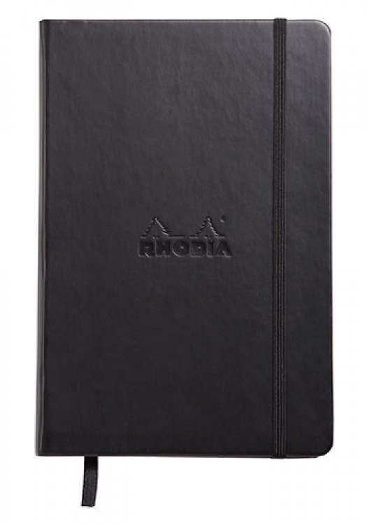 Rhodia : Webnotebook Unlined Ivory Pad : Black Cover : 96 Sheets : A5