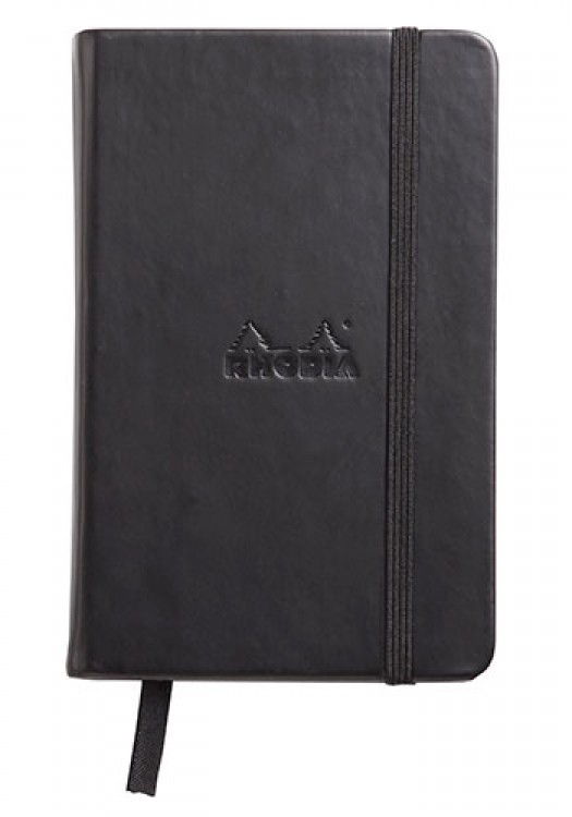 Rhodia : Webnotebook Unlined Pad : Black Cover : 90x140mm (A6 9x14cm)