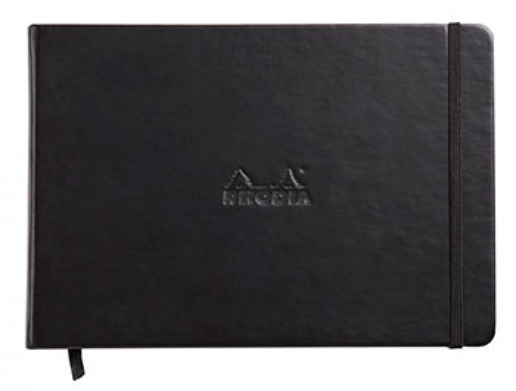 Rhodia : Webnotebook Landscape Unlined Ivory Pad : Black Cover : 96 Sheets : A5