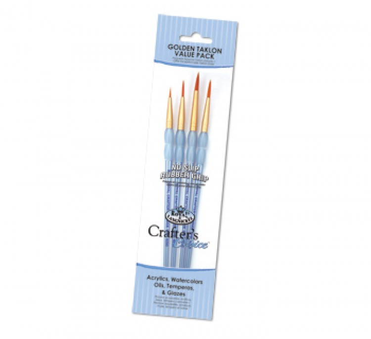 Royal Brush : Gold Nylon Round Brush Set