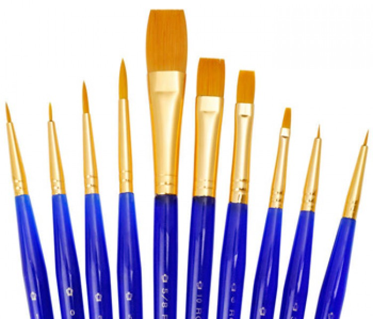 Royal Brush : Golden Taklon Short Value Brush Pack