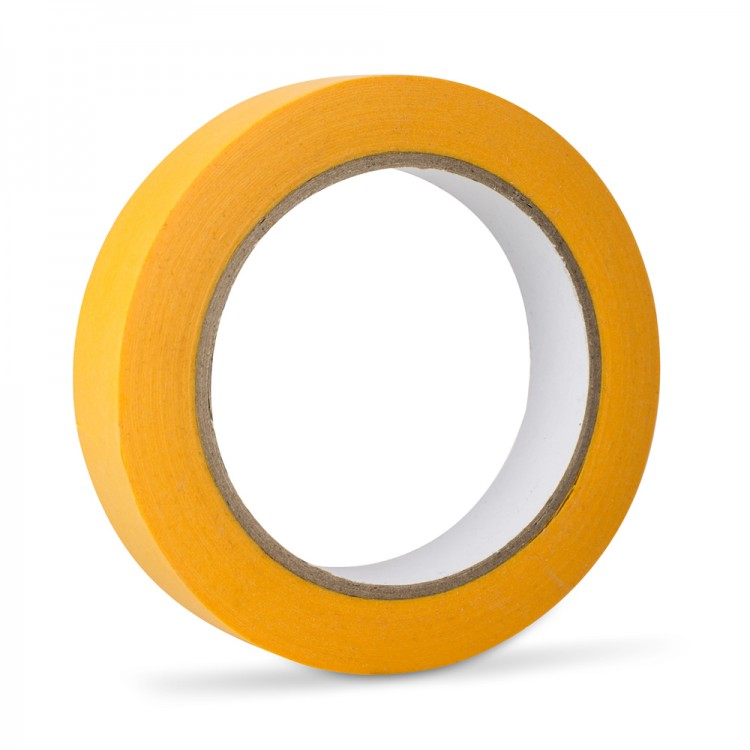 Handover : Yellow Low Tack Lining Tape: 1 25mm x 40 metres