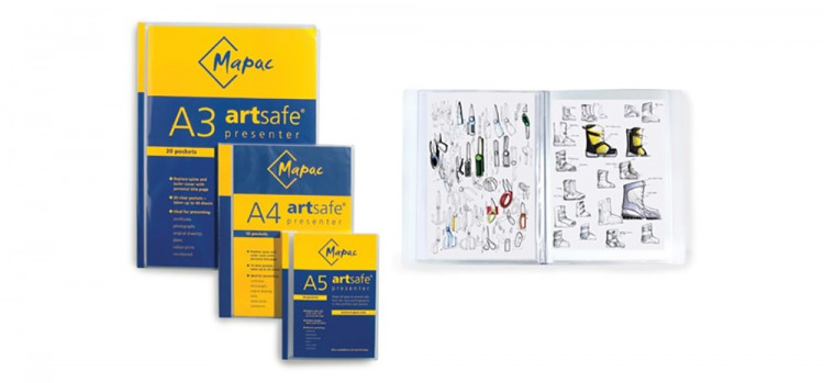 Mapac : Artsafe Presenters : Packs of 20 Clear Sleeves for up to 40 pages