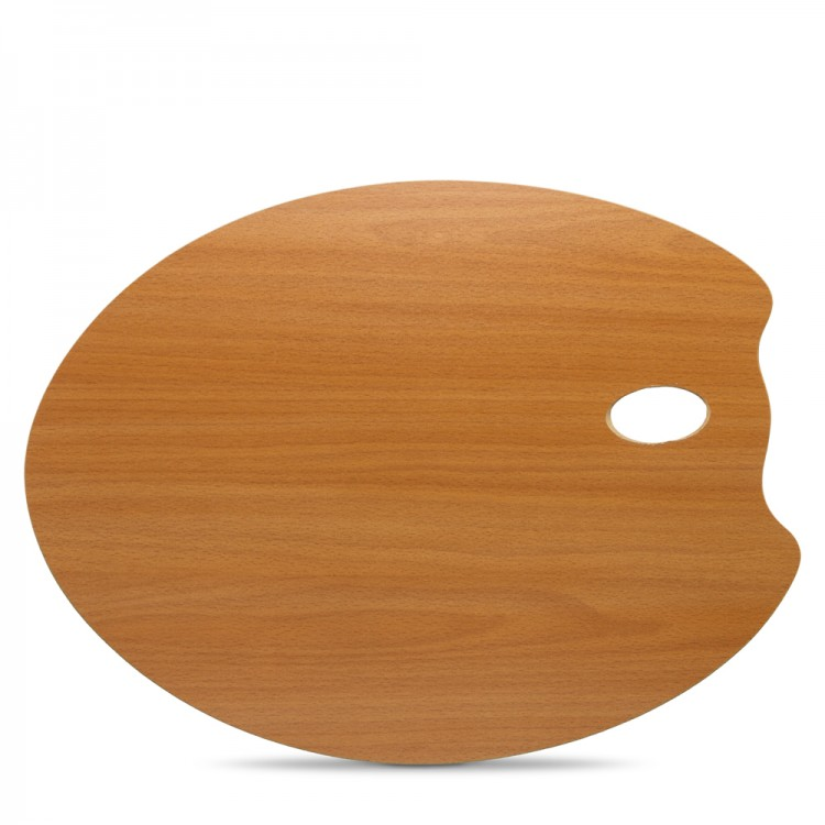 Mabef : OVAL Wooden Palette 35 x 45 cm (3.7mm thick)