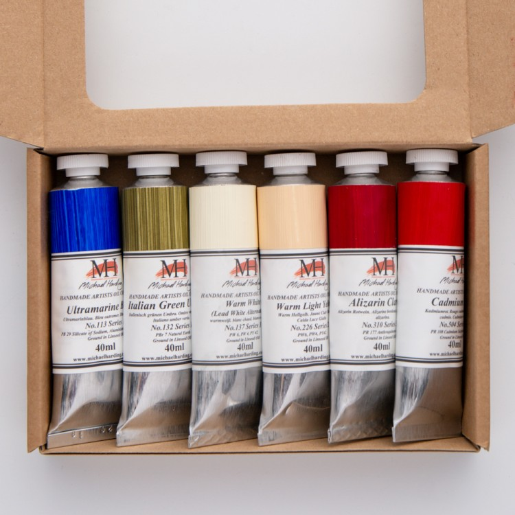 Michael Harding Oil Paint Modern Master Set 6x40ml