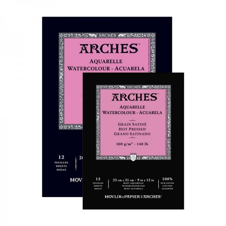 Arches : Aquarelle : Gummed Pads : Hot Pressed