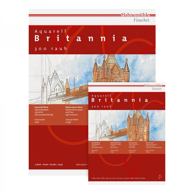 Hahnemuhle : Britannia Watercolour Blocks : 300gsm : Not