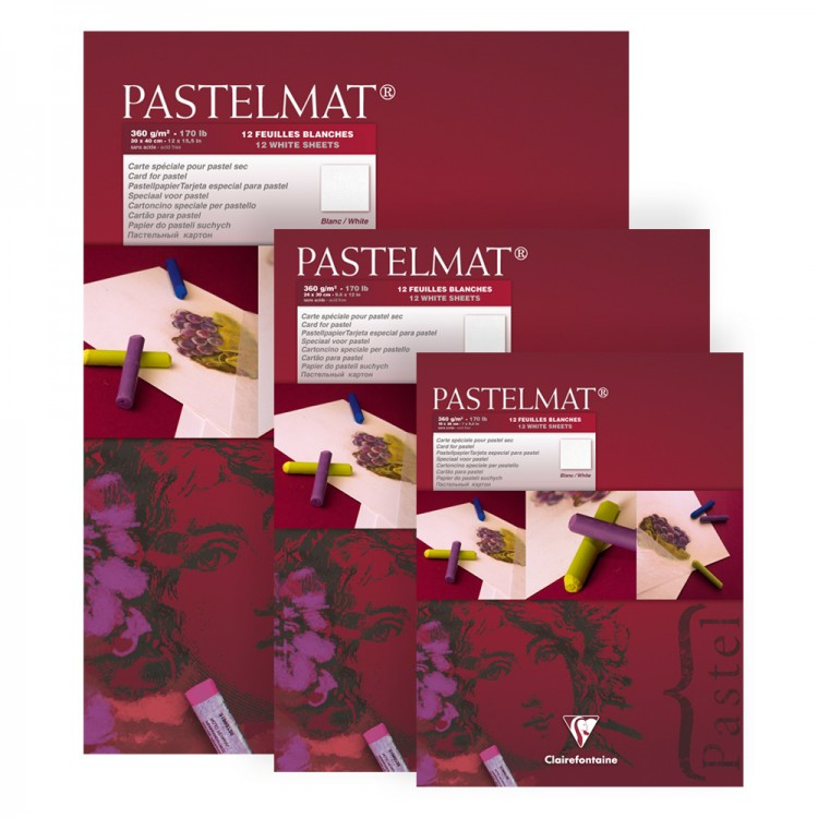 Clairefontaine : Pastelmat White Label: Gummed Pads