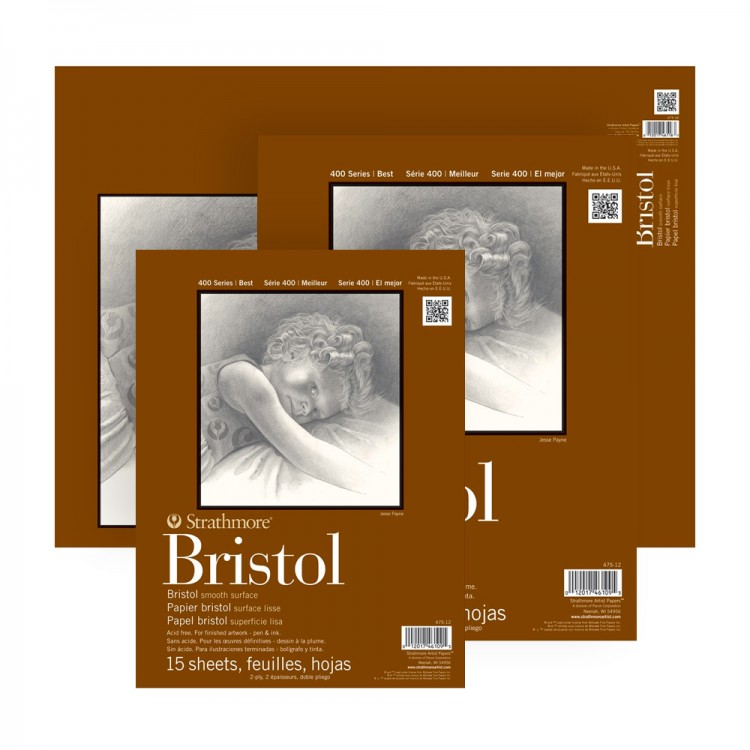 Strathmore : 400 Series : Bristol Paper : Pads : 2Ply Smooth