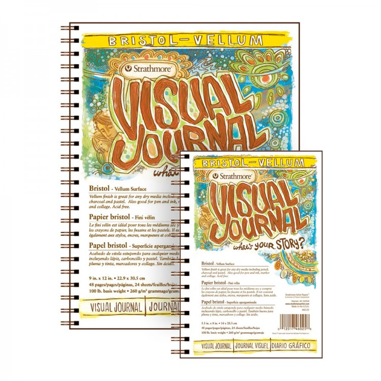 Strathmore : Visual Journals : Bristol Paper : Vellum : Wire Bound