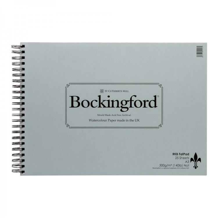 Bockingford : Spiral Fat Pad : A3 : 25 Sheets : Not