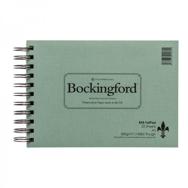 Bockingford : Spiral Fat Pad : 300gsm : A5 : 25 Sheets : Rough