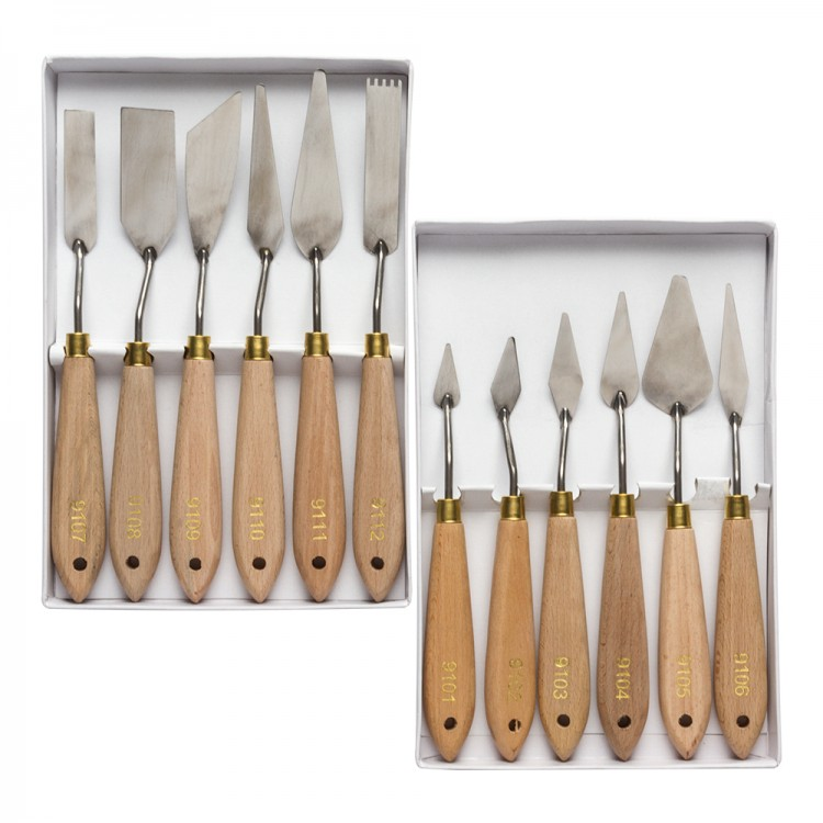 JAS : Economy Set of (6x 2 sets) Palette Knives
