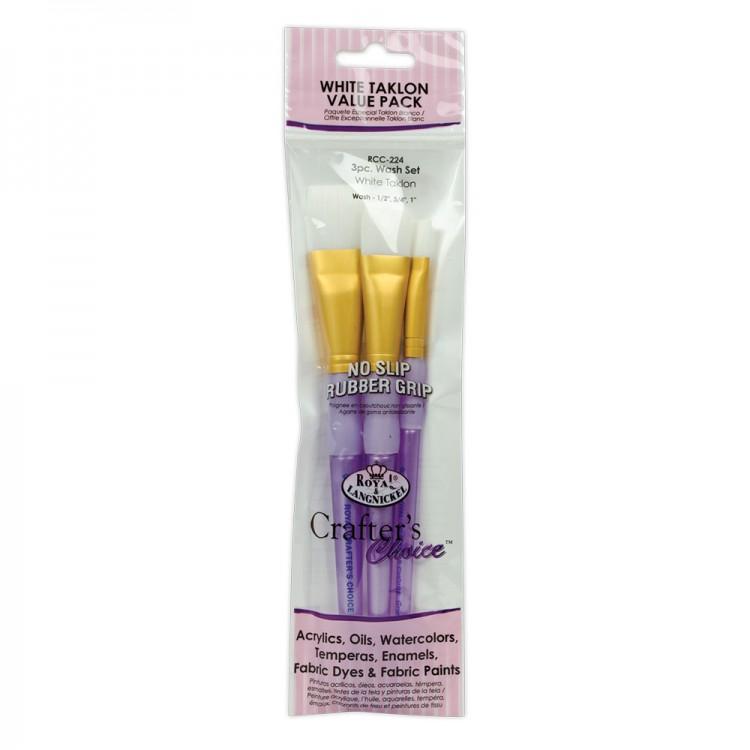 Royal Brush : White Taklon Brush Sets
