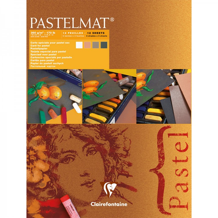 Claire Fontaine : Orange Label Pastelmat Pad 18x24cm : 12 Sheets 360gsm