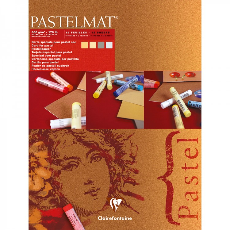 Claire Fontaine : Red label : Pastelmat Pad : 30x40cm : 12 Sheets 360gsm