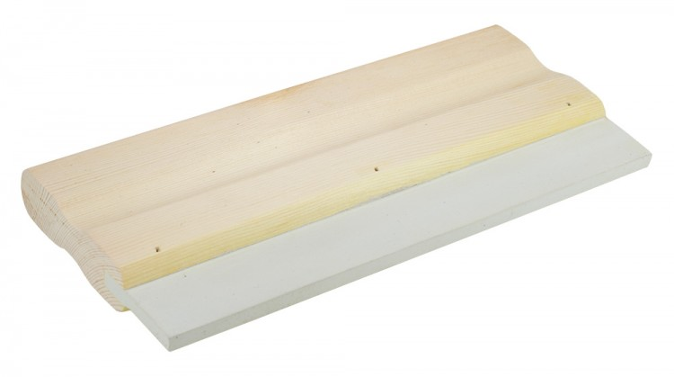 Wooden Squeegee : White Rubber