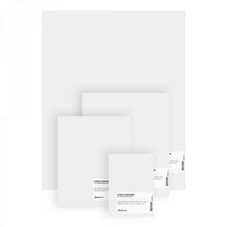Jackson's : Ultralite Linen Board  : Claessens 109 Fine Linen Surface : Universal Primed : 363gsm