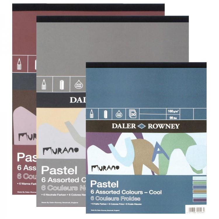 Daler Rowney : Murano : Pastel Paper Gummed Pads : 30 Sheets