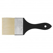 Handover : Thin Flat Brislon Brush. 75mm. Short Black Handle