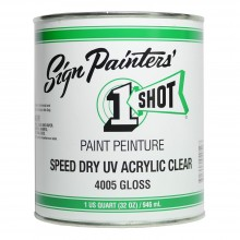 1Shot : Speed Dry UV Acrylic Clear : 946ml : Gloss : By Road Parcel Only