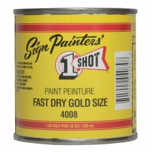 One Shot Fast Dry Gold Size 236ml : By Road Parcel Only