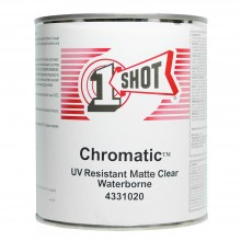 One Shot UV Resistant Waterborne Clear Topcoat 946ml - Matt : By Road Parcel Only
